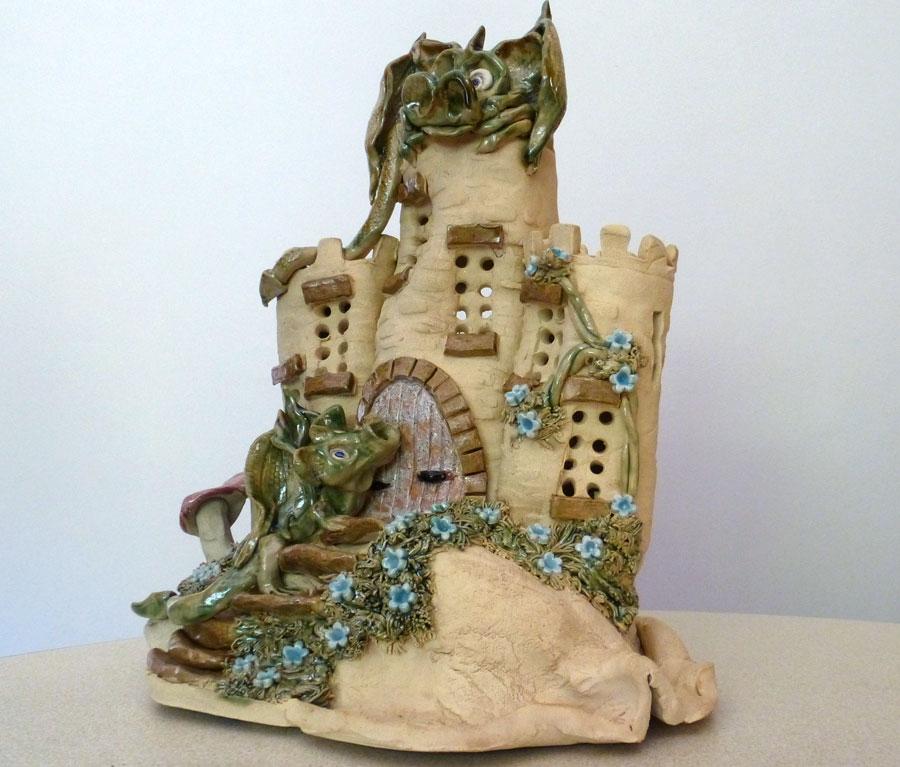 Exclusive Handmade Dragon Castle Childs Night Lamp DRAGON-CASTLE