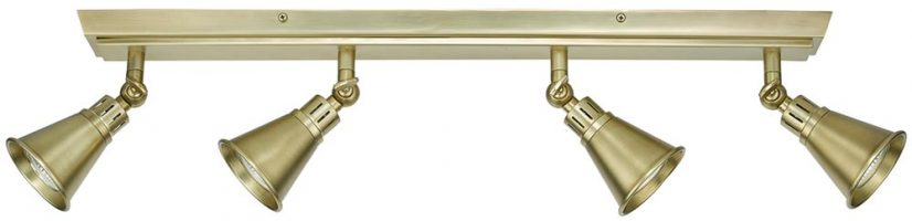 Dar Edo Retro 4 Lamp Adjustable Spot Light Bar Soft Brass