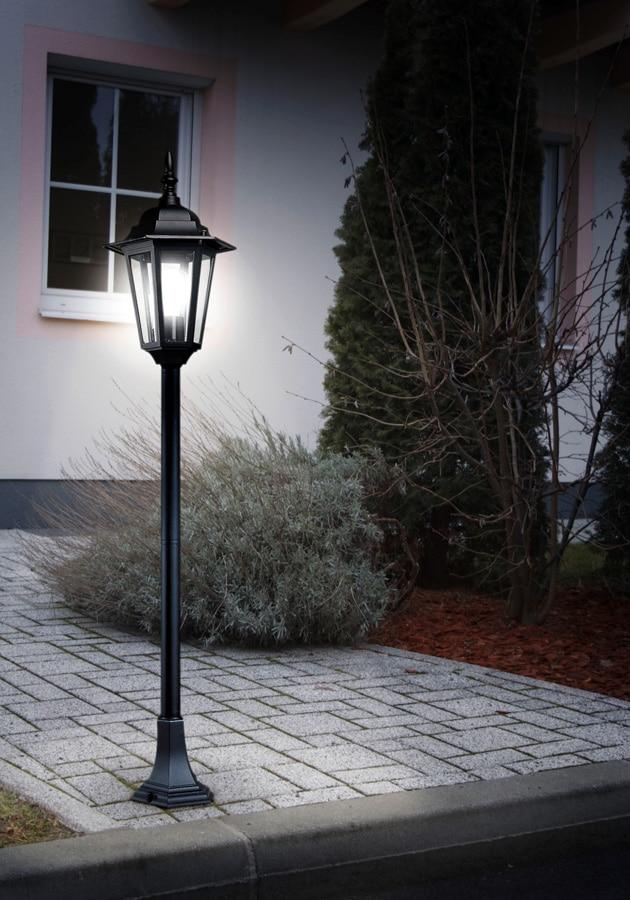 Traditional Black Half Height Garden Lamp Post Light