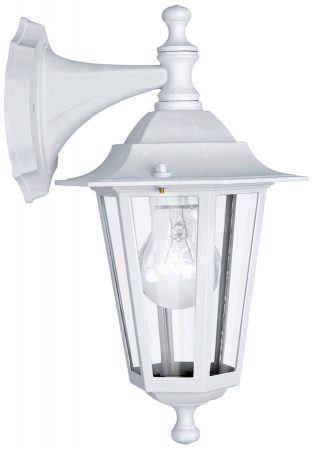 Laterna Traditional White Outdoor Wall Down Lantern