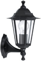 Traditional Black Outdoor Wall Light Upward Facing