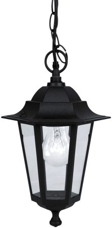 Laterna Traditional Black Outdoor Hanging Porch Lantern