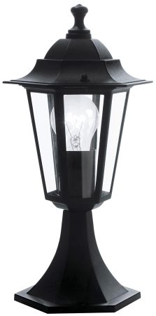 Traditional Black Finish Garden Gate Post Light