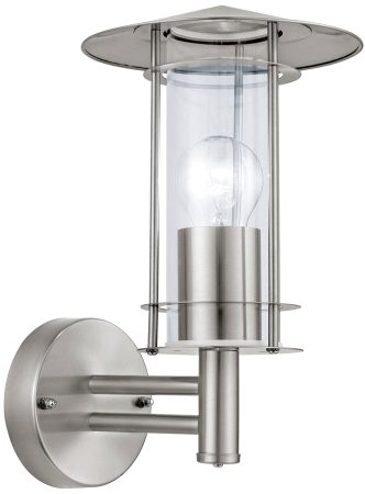 Lisio Stainless Steel Outdoor Wall Lantern Clear Glass IP44