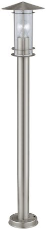 Lisio Stainless Steel Outdoor Post Lantern Clear Glass IP44
