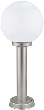 Modern Globe Outdoor Stainless Steel Short Post Light
