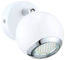 White Steel Ball Single LED Wall Spotlight