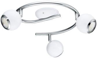 White Steel Ball 3 Lamp LED Ceiling Spotlight Bar