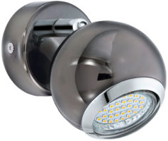 Black Nickel Ball Single LED Wall Spotlight