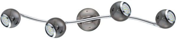 Bimeda Black Nickel Ball 4 Lamp LED Ceiling Spotlight Bar
