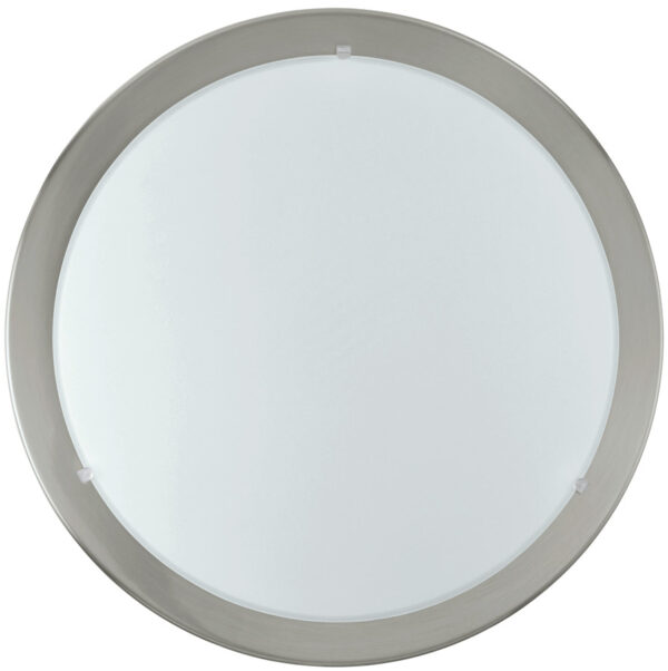 Small Satin Nickel LED Flush Ceiling or Wall Light
