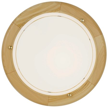 Pine Circular Flush Fitting Wall or Ceiling Light