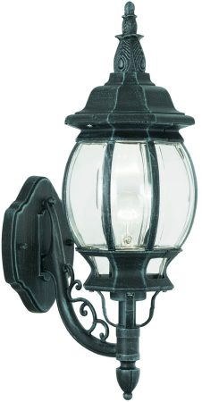 Classic Traditional Outdoor Up Wall Light Black And Green
