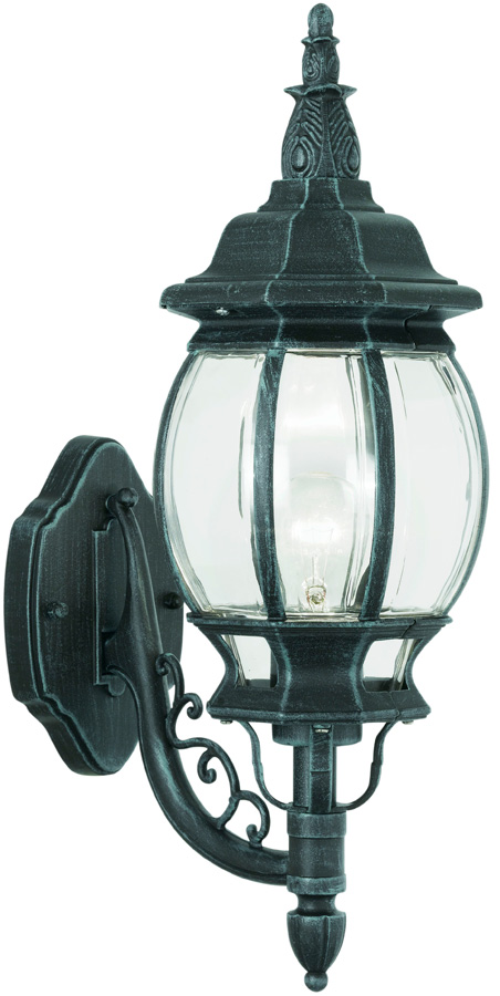 Classic Traditional Outdoor Up Wall Light Black And Green 4174