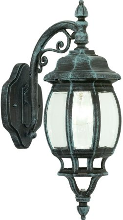 Classic Traditional Outdoor Down Wall Light Black And Green