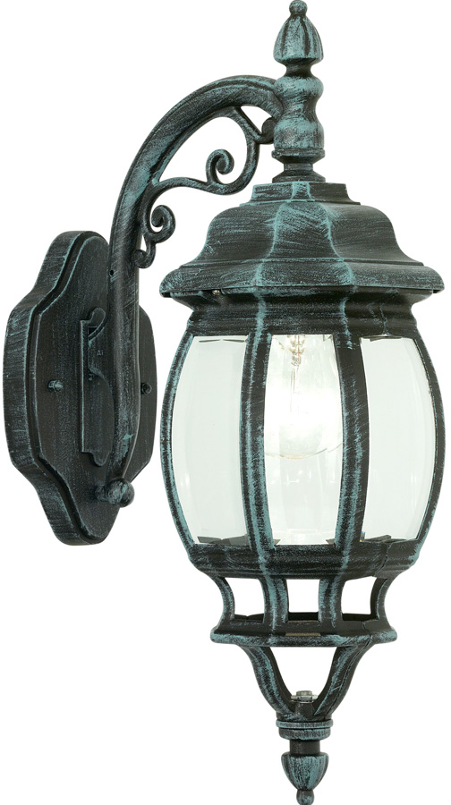 Green Outside Wall Lights : Classic Traditional Outdoor Down Wall Light Black And Green 4175