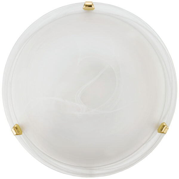 Salome Brass 300mm Flush Glass Ceiling Light