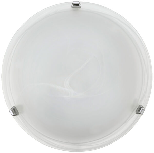 Salome Chrome 300mm Flush Glass Ceiling Light