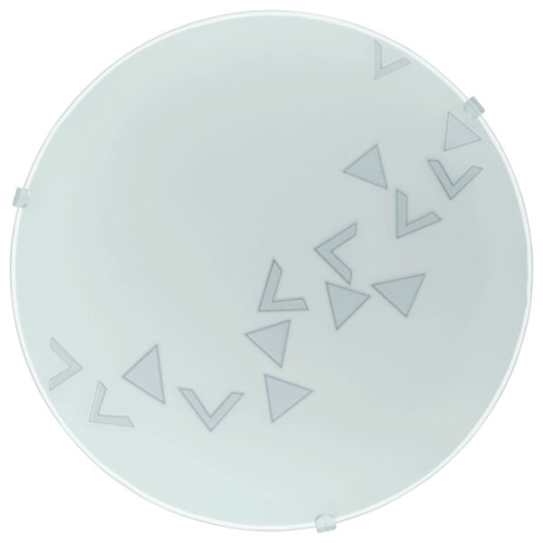 Triangle Motif Flush Ceiling Light Or Wall Lamp