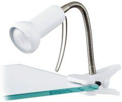 Fabio White Clip On Table Lamp Desk Task Lamp