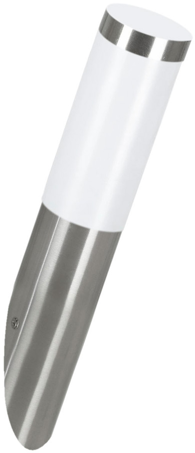 Low Energy Stainless Steel Angled Outdoor Wall Light Helsinki