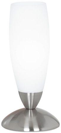 Tall Slim Modern Satin Nickel Table Lamp