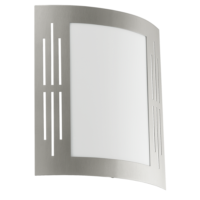 City Flush Outdoor Wall Light Slotted Stainless Steel Cover