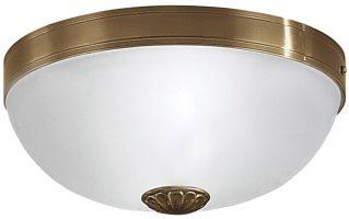 Bronze Finish Art Deco Style 2 Light Flush Fitting