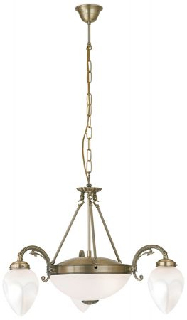 Art Deco Style Imperial Feature 3 Light Chandelier