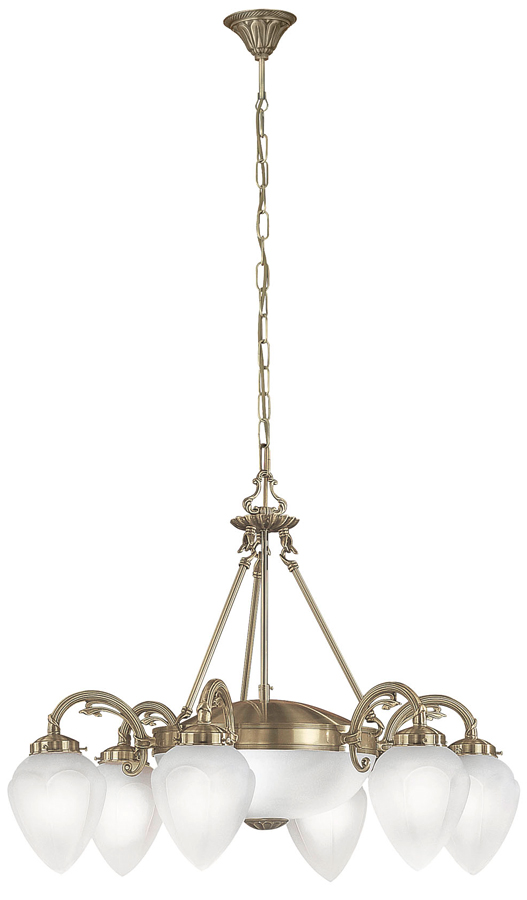 Imperial Large 8 Light Art Deco Style Chandelier Bronze
