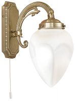 Bronze Art Deco Style Flame Switched Single Wall Light