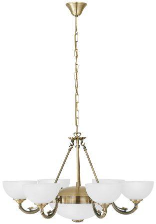 Bronzed 8 Light Chandelier Victorian Style Cast Metal