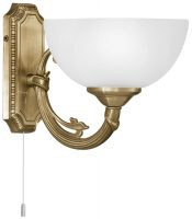 Savoy Bronzed Single Wall Light Victorian Style Switched