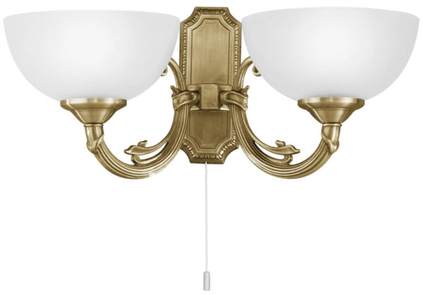Savoy Bronzed 2 Lamp Switched Wall Light Victorian Style