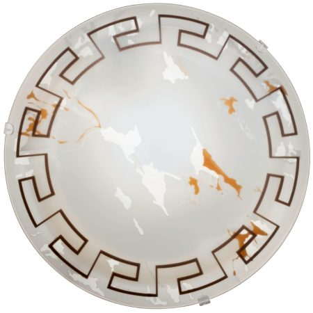 Twister Marble Glass 250mm Flush Fitting Ceiling Light