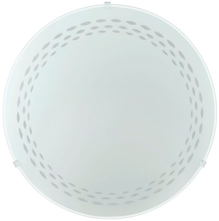 Twister White Glass 250mm Flush Ceiling or Wall Light