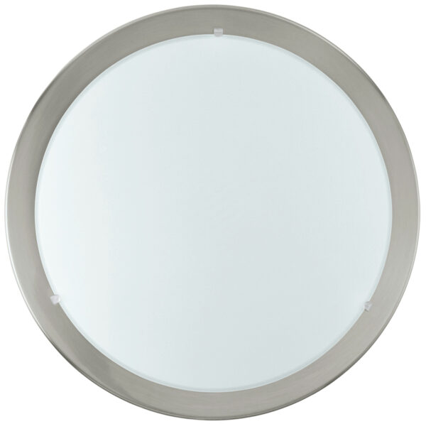 Planet Small Satin Nickel Flush Ceiling or Wall Light