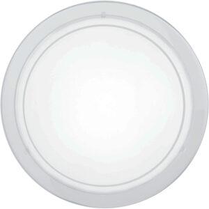 Circular White Steel Flush Fitting Ceiling Light