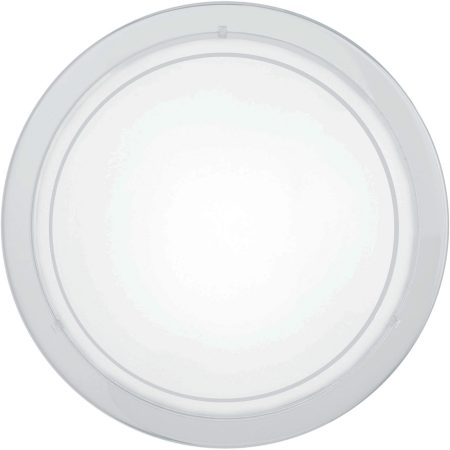 Circular White Steel Flush Fitting Ceiling Light
