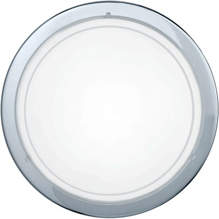 Circular Chrome Flush Fitting Ceiling Light