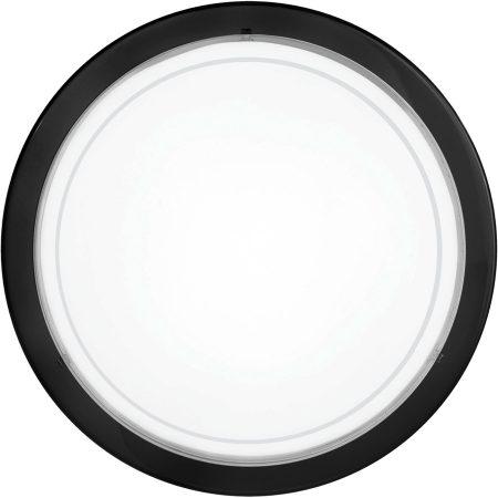 Circular Black Steel Flush Fitting Ceiling Light