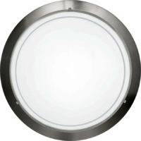 Circular Satin Nickel Flush Fitting Ceiling Light
