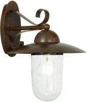 Traditional Antique Brown Outdoor Wall Lantern Milton