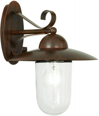 Traditional Antique Brown Outdoor Wall Lantern Milton