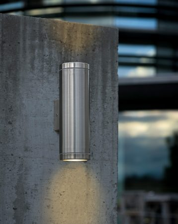 Riga Modern Stainless Steel Outdoor Wall Washer Light