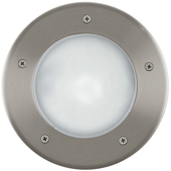Round Stainless Steel Low Energy Outdoor Walkover Light