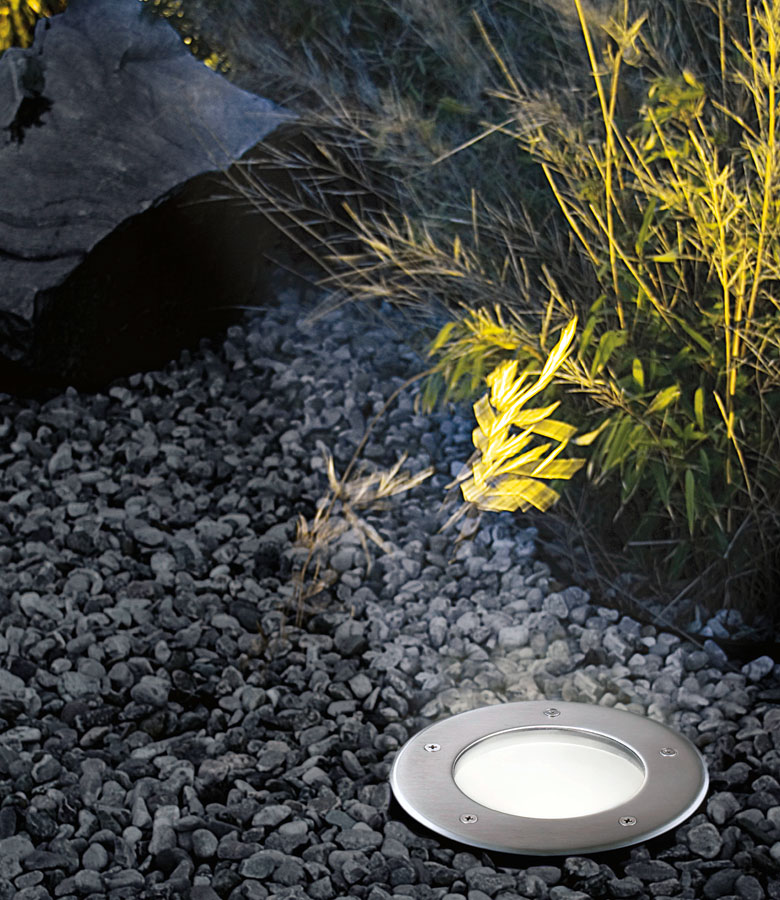 Round Stainless Steel Low Energy Outdoor Walkover Light 86189