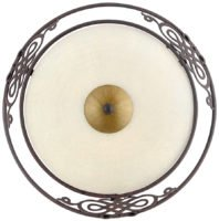 Mestre Traditional Antique Brown Steel 330mm Flush Ceiling Light