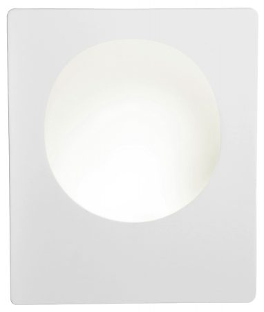 White Plaster Recessed LED Wall Light
