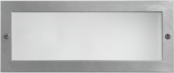 Zimba Plain Outdoor Brick Light Silver Cast Aluminium